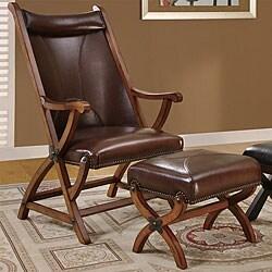Brown Morris Hunter Chair And Ottoman 11316234