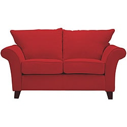 Provence Crimson Red Flared Arm Loveseat 11333017