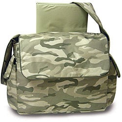Pretty Baby Green Camouflage Diaper Bag 11582829