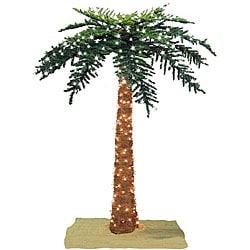 Faux Tropical Royal 7 Foot Pre Lit Palm Tree 12329521