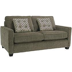 Calabria Graphite Grey Chenille Fabric Apartment Sofa Bed