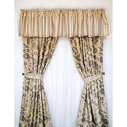 Springfield Gold Eggplant 84 Inch Curtain Panel Pair