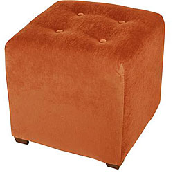 Burnt Orange Cube Ottoman 12408510 Overstock Com