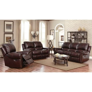 Classic Oversize And Overstuffed Real Leather Sofa