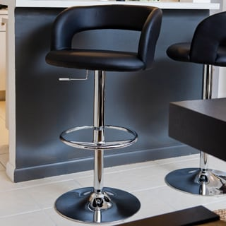 Leverett Black Bar Stool 11361693 Overstock Com