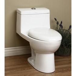 Self Closing 1 Piece Seat Dual Flush Toilet 12609666