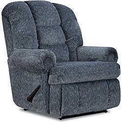 Stallion Blue Comfort King Recliner 12725385 Overstock