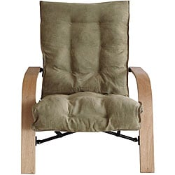 Bentwood Micro Suede Folding Chair 12948419 Overstock