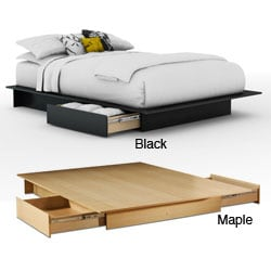 Contemporary Storage Platform Bed Overstock Shopping