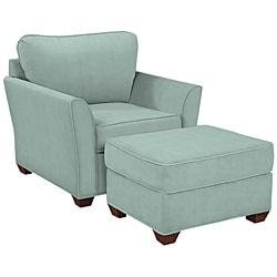 Logan Seafoam Cotton Fabric Arm Chair 12981094