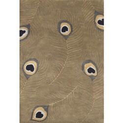 Alliyah Handmade Sage Green New Zealand Blend Wool Rug 8