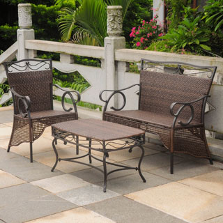 Christopher Knight Home Andorra Outdoor 3 Piece Cast