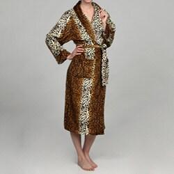 Women S Cheetah Print Microluxe Bath Robe 13574084