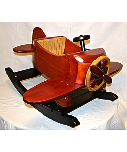 Premium Wood Airplane Rocker 141386 Overstock Com