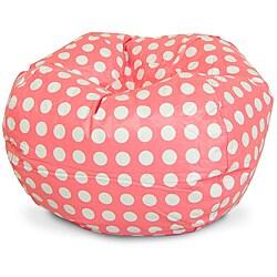 Beansack Pink Polka Dot Vinyl Bean Bag Chair 14211588