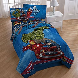 Marvel Comics Avengers Full Size Bed In A Bag With Sheet