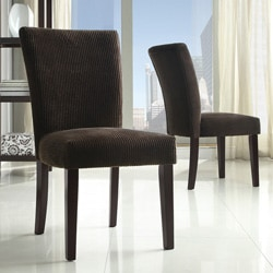 Parson Chocolate Corduroy Dining Chairs Set Of 2