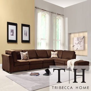 Tribecca Home Barnsley Collection Dark Brown Polyester 6