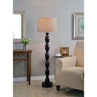 Ballao 58-inch Ikat Shade Floor Lamp - Oil Rubbed Bronze