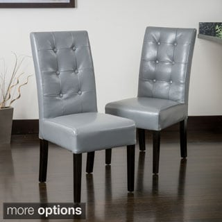 King Leather Dining Chairs Set Of 2 11747146