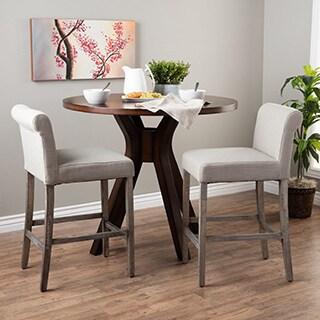 Portfolio Orion Barley Tan Linen Upholstered 29 Inch Bar