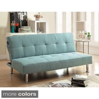 Memphis Camel Double Cushion Futon Sofa Bed 14096198