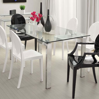 Casabianca Home Frosty Collection Metal Glass Dining