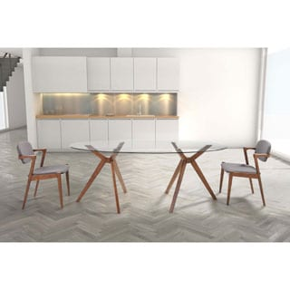 Zuo Stockholm Walnut Dining Table 16371184 Overstock