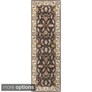 Hand Tufted Coliseum Gray Traditional Border Wool Rug 3