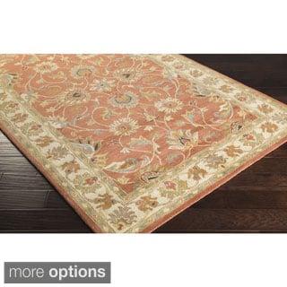 Hand Tufted Aqua Waterford Wool Rug 8 X 11 12217465