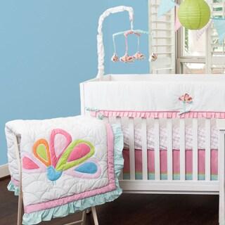 Cotton Tale Girls 4 Piece Crib Bedding Set In Heaven Sent