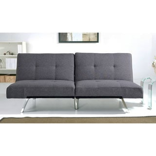 Vitoria 76 Inch Charcoal Grey Sleeper Sofa Bed With French