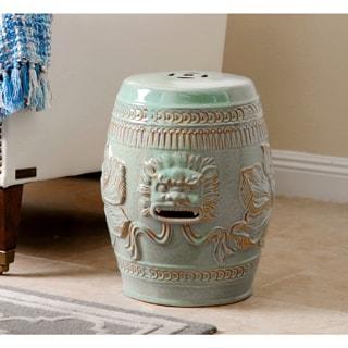 Tobias Cutwork Turquoise Ceramic Garden Stool 16670593
