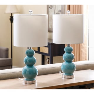 Clear Glass Fillable Table Lamp Set Of 2 14695475