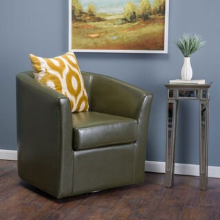 Christopher Knight Home Daymian Faux Leather Swivel Club Chair