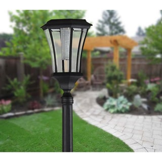 Brown Hanging Solar Candle Lantern Post Lights Pack Of 2