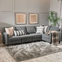 Zahra 5-piece Fabric Sofa Sectional by Christopher Knight Home