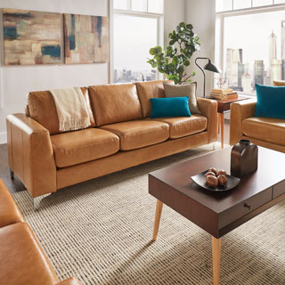 Leather Contemporary Sofas Couches Amp Loveseats Shop