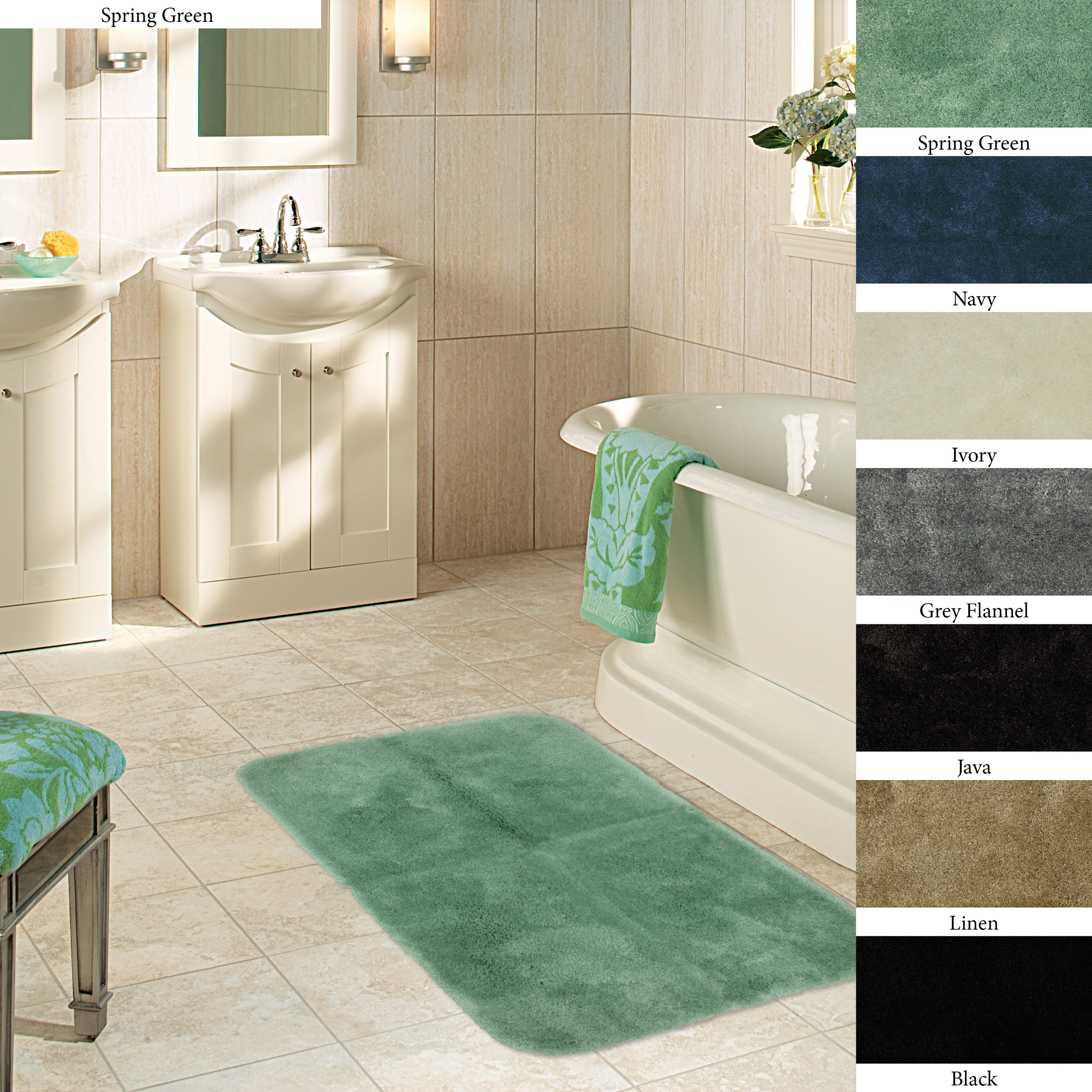Plush Bathroom Rug Sets: Plush Non-skid 24 X 40-inch Bath Mat (Set Of 2