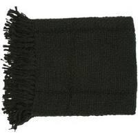 Woven Ric Acrylic and Wool Throw Blanket