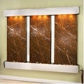 Adagio Deep Creek Falls Wall Fountain Rainforest Brown Marble Stainless Steel - - Thumbnail 10