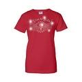 Women's Juniors T-Shirt Rhinestones Live To Ride Skull & Angel Wings Biker Tee - Thumbnail 2