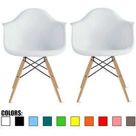 Brown Woven Fabric Eames Style Retro Dining Armchair With