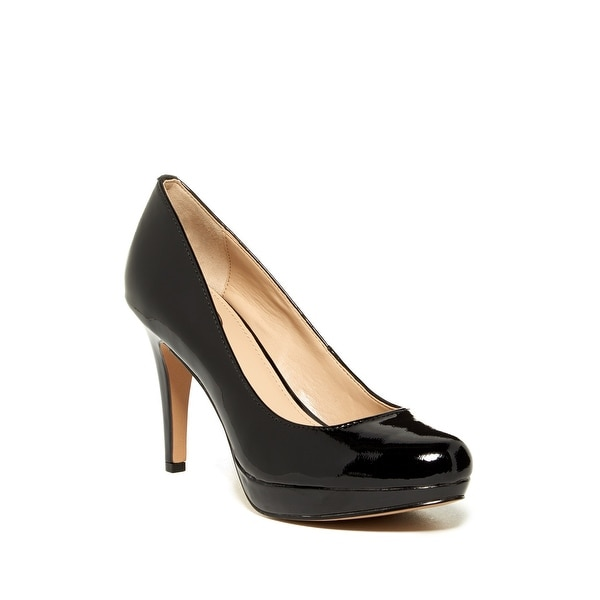 Circa NEW Black Pearly Shoes Size 10M Pumps Patent Leather Heels