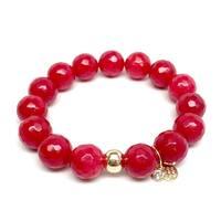 "Red Quartz Lauren 7"" Bracelet"