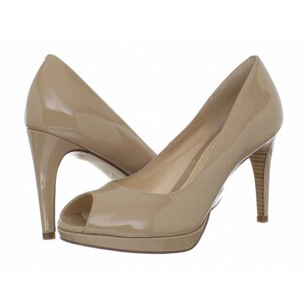 Cole Haan NEW Beige Shoes Size 10B Pumps Open Toe Leather Heels