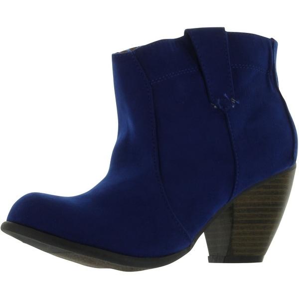 Qupid Women's Priority-63 High Heel Pumps Shoes - royal blue suede pu - 8 b(m) us