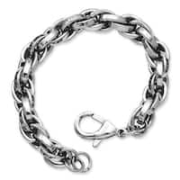 Stainless Steel Polished Oval Link 8.5in Bracelet