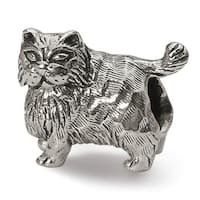 Sterling Silver Reflections Persian Cat Bead (4mm Diameter Hole)