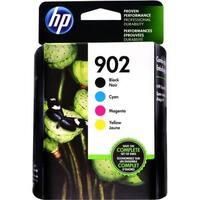 HP 902 CMYK Ink Cartridge Combo Pack X4E05AN - black